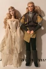 LORD OF THE RINGS GALADRIEL LEGOLAS BARBIE KEN DOLL 2004 H1179 H1192 COLLECTOR
