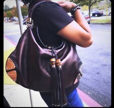 1 day SALE Beautiful Gucci Indy Hobo Medium Brown  Leather Bag $3300
