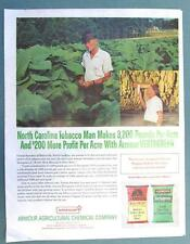 Original 1965 Fertilizer Ad Photo Endorsed George Saunders of Morrisville NC