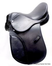 "12"" Black Leather All Purpose Youth / Child English Saddle Horse Tack"