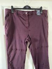 M&S Ladies Trousers, Skinny Leg Trousers Size 22, Dark Grape BNWT