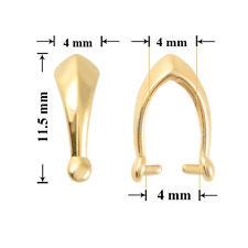 Sterling Silver Pinch Bails 11.5x4mm pour fabriquer des Pendentifs * différentes plaques
