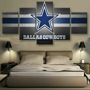 Dallas Cowboys Painting Muti-Panel Wall Art Home Decoration Living Room Bedroom