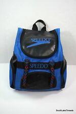 VTG 80s Speedo Backpack Large Teamster 35L Blue Swim Bag Rare