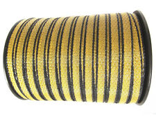 Electric Fence Hot WireTape: 200m Easy-See Yellow/Black  Horses