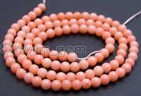 """3-4mm Round Pink Natural Coral  Beads for Jewelry Making DIY Necklace Strand 15"""""""
