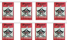 Jolly Roger Pirates Only Trespass 12x18 Bunting String Flag Banner (8 Flags)