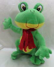 "13"" Frog  Plush Stuffed Animal Toywarehouse New age 4+  New"