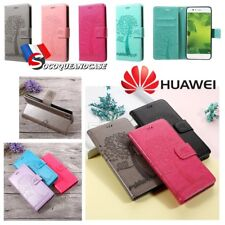Etui Folio Nature coque housse Cuir PU Leather case cover pour la gamme Huawei
