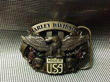 MOTOR HARLEY DAVIDSON OFFICIAL LICENSED PRODUCT BELT BUCKLE BY SISKIYOU 8X6.5CM