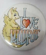 I Love Lilliput Lane Dragon Button Collectible