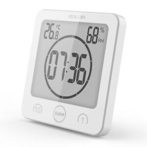 Baldr Digital Waterproof Shower Clock Bathroom Clock Countdown Timer for Kitchen