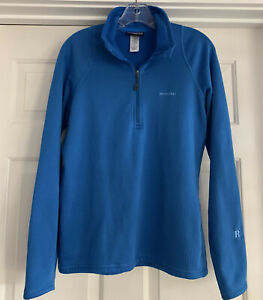 Patagonia Blue R1 Pullover Sweater Long Sleeve Henley Top Sz L