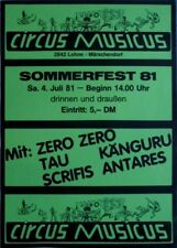 SOMMERFEST - 1981 - Plakat - Känguru - Zero Zero - Scrifs - Poster - Lohne