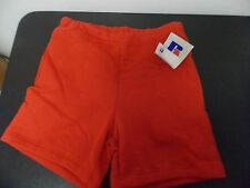 Vintage Russell Athletic NOS 50/50 Blend Heavy Gym Shorts Size Mens Small RED