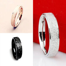 UOMO DONNA Fede nuziale acciaio inox opaco anello Coppia Regalo Hot Fashion