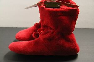 1Santa Slipper Christmas SLIPPER  BOOTIES 100% POLY 9-11, 6-8 Red