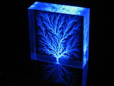 "2"" x 2"" x 3/4"" Captured Lightning Edge Lichtenberg Figure Beam Tree Sculpture"