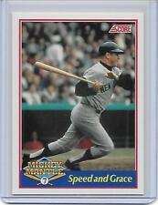 1991 Score Mickey Mantle #5 - Speed and Grace - Rare Limited Edition