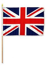 """12x18 12""""x18"""" United Kingdom UK Stick Flag wood Staff"""