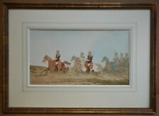 French Cavalry. Original Watercolour by listed artist Théodore Fort circa 1870