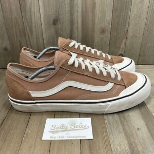 Vans Old Skool Skateboard Classic Tan/White Skate Sneakers Mens Size 13