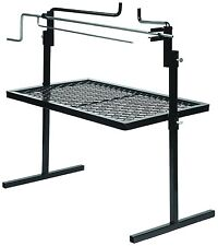 New Stainless Cooking Grate Rotisserie BBQ Stand Open Fire Pit Spit Grill Steel