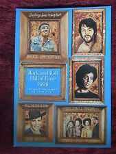 Rock and Roll Hall of Fame Program Paul McCartney Bruce Springsteen Billy Joel