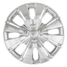 EIGHT SPLIT SPOKE HUBCAPS SET OF FOUR CHROME 15 INCH
