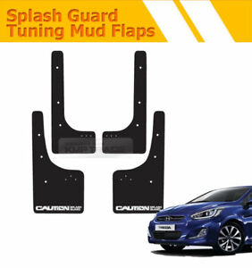 Tuning Mud Flaps Mud Guards Splash Guards Front Rear for HYUNDAI 11-17 Verna 5DR
