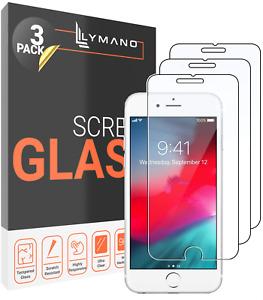 3x Glas iPhone 7 8 Plus 6s 5 SE 2020 Panzerfolie Display Schutz Echt Glas 9h