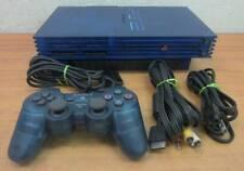 PS2 Plastation 2 Transparent Clear Ocean Blue SCPH-37000 Excellent