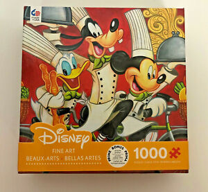 NEW Sealed Disney Puzzle Fine Art Mickey Mouse Donald Duck Goofy 1000 Pieces