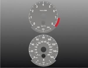 2007-2008 BMW 335i 335xi N54 Dash Instrument Cluster GREY Face Gauges