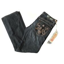 MEK Denim JEANS HARRISON MEN Size 33x34 Black Gray Slim Boot 100% Cotton