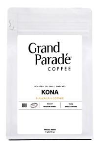 100% Hawaiian Kona Medium Roast Ground Coffee, Fresh Roasted Daily, 1 LB Bag