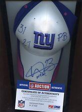New York Giants NFL Football Worn Hat / Cap Corey Webster Autographed COA