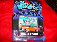MUSCLE MACHINES '57 CHEVY ORANGE 01-74 FREE USA SHIPPING