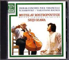 Mstislav ROSTROPOVICH: DVORAK Cello Concerto TCHAIKOVSKY Rococo SEIJI OZAWA CD