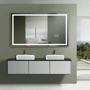 """48""""x28"""" Large LED Vanity Mirror With Light Wall Makeup Bathroom Mirror by Yukon"""