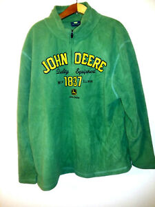 John Deere Green Fleece Sweaters Mens Size Large