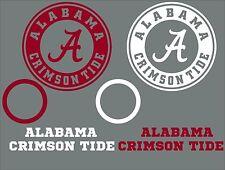 Alabama Crimson Tide Decal Set - 6 CORNHOLE Board Decals Vinyl Sticker Window