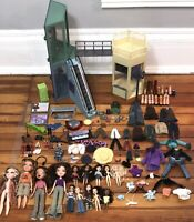 Huge Lil' Bratz Dolls Clothes Accessories Shopping Mall Lot W/ Working Escalator