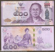 Thailand 500 Baht 2016 King Bhumibol Queen 84th 7 Cycle Commemorative Unc Note