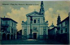 Cartolina Formato Piccolo - Carignano, Piazza Regina Margherita. Monumento Ai Ca