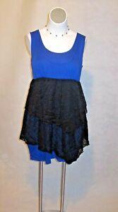 NEW Torrid Blue & Black Lace Soft Party Cocktail Dress Sizes 0-4 12-28 $54