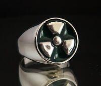 NEW - Bronze Green Enamel - INCREDIBLE HULK RING - Nuclear Radioactive