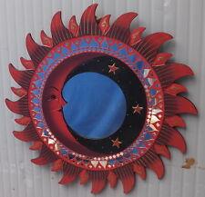 Espejo sol luna rojo diámetro cm 60 mosaico de vidrio