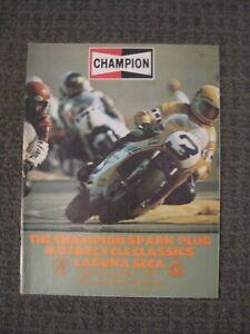 1976 Race Program-The Champion Spark Plug Motorcycle Classics-Laguna Seca-EX