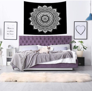 Hippie Mandala Bohemian Psychedelic Intricate Floral Indian Bedspread Hanging Ar